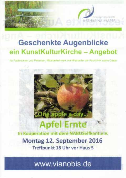 """nach einigen """"Anlaufschwierigkeiten"""" hat es geklappt,: Auch in 2016 wieder eine Apfelernte auf unserer Streuobstwiese mit anschliueßender Obstversaftung"""