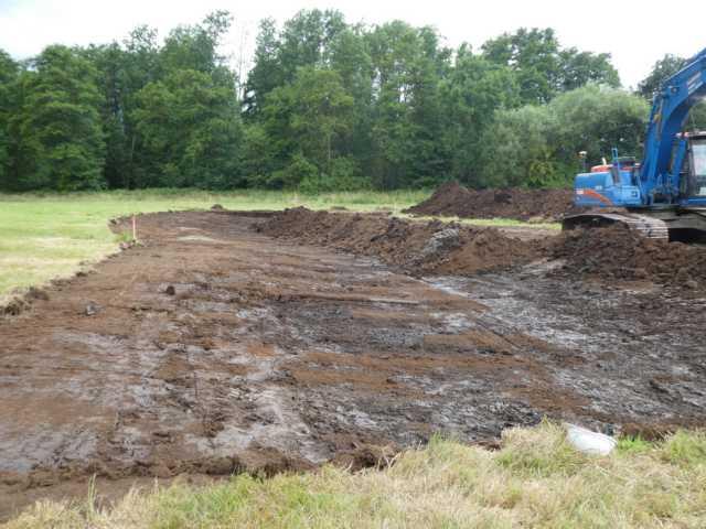 """Langeweil wird nicht aufkommen, die Baggerarbeiten für den geplanten """"moerastverlauf"""" sind bereits im vollen Gange"""