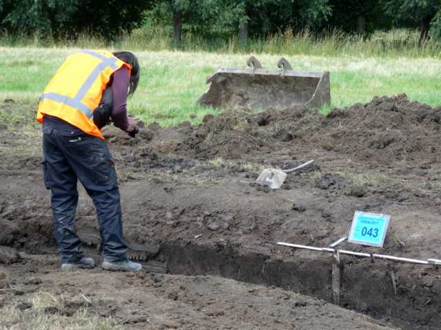 auch hier immer Archäologen vor Ort