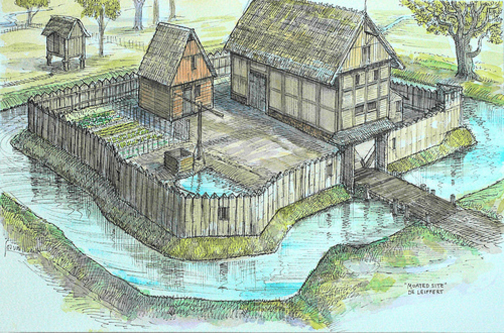 Lammedam in einer Skizze des Schinvelder Künstlers Jos van Wunnik