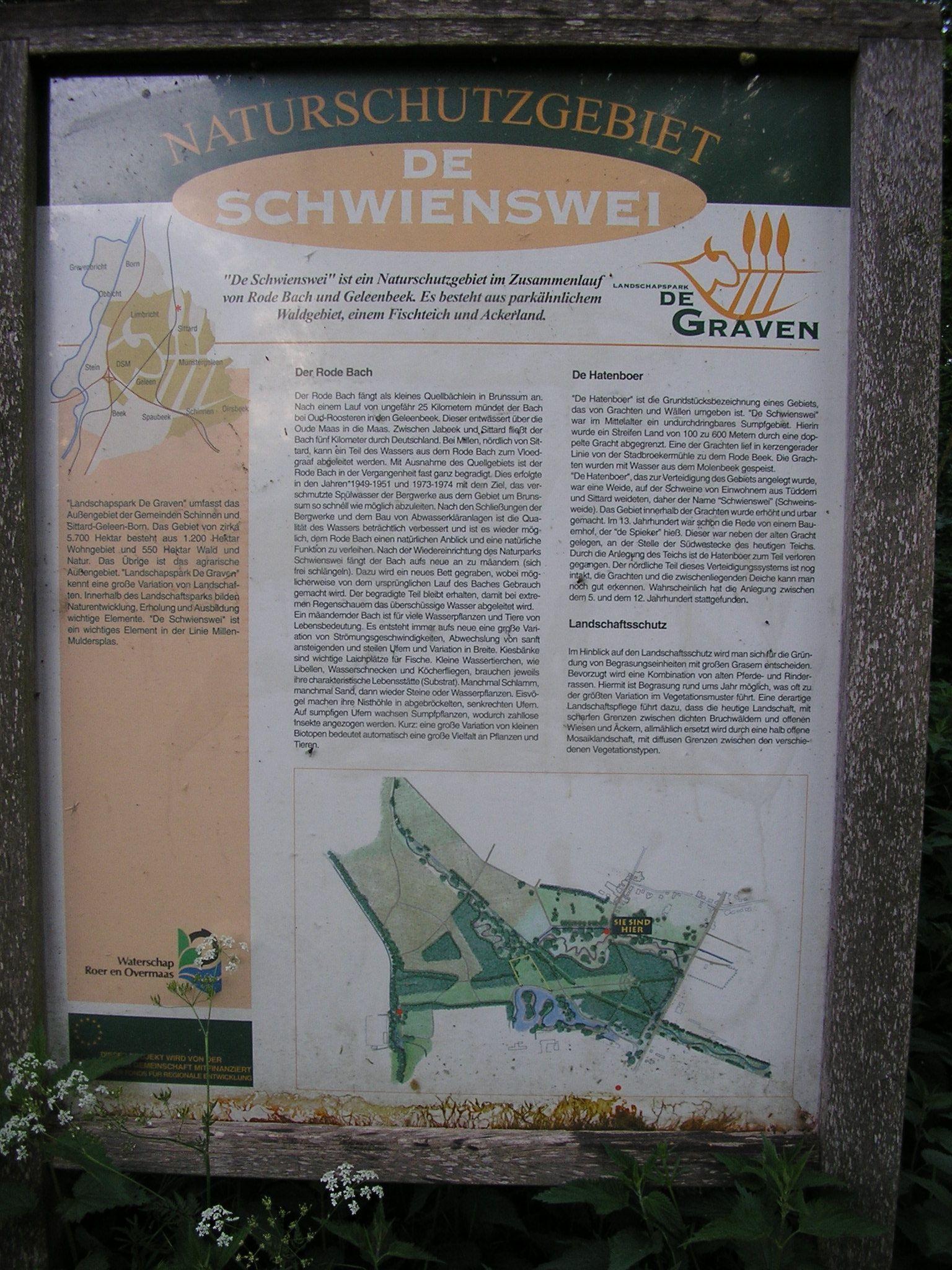 Eingangsschild Schwienswei Theo2