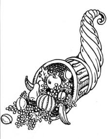 """... als Symbol des Überflusses! ... das """"Horn der Nymphe Analthea, aus dem sich Reichtum und Segen ergießt!"""""""