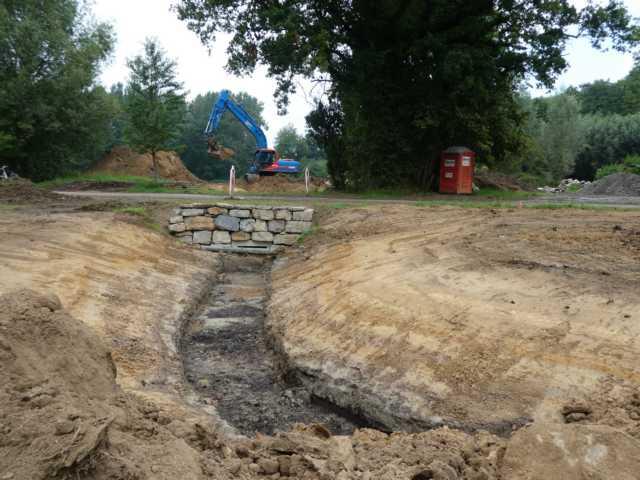 der neue moerasloop Richtung Roermolen nahm Form an